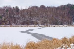 Zalew zimą