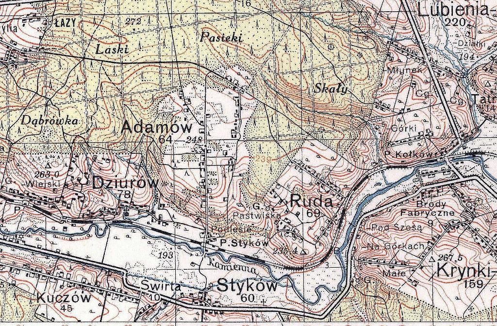 1937-1938-mapa-przedwojenna-historyczna-swietokrzyskie-brody-starachowice-wierzbnik-swietokrzyskie-stykow-adamow-ruda-dziurow-c.JPG