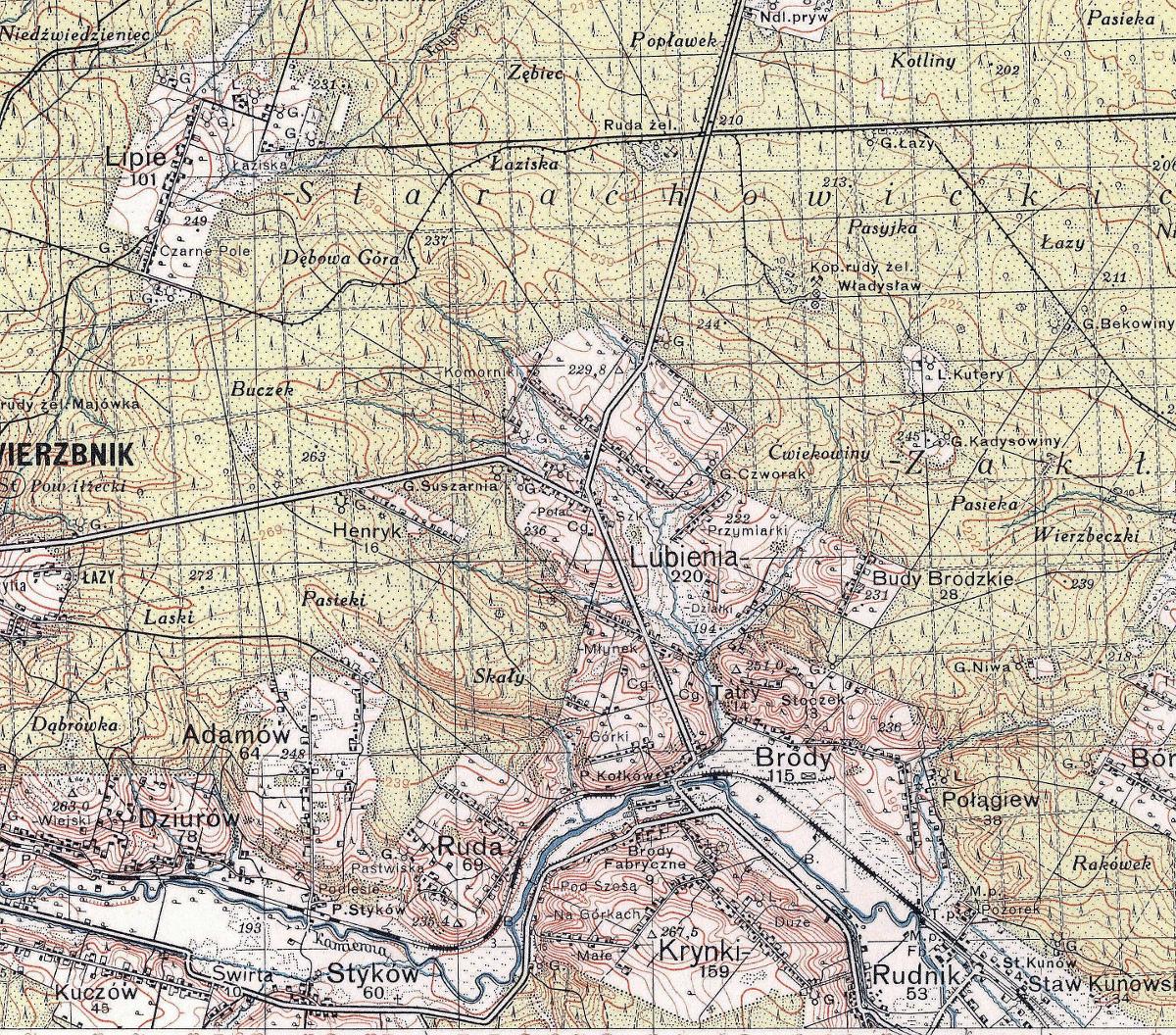1937-1938-mapa-przedwojenna-historyczna-swietokrzyskie-brody-starachowice-wierzbnik-swietokrzyskie.JPG
