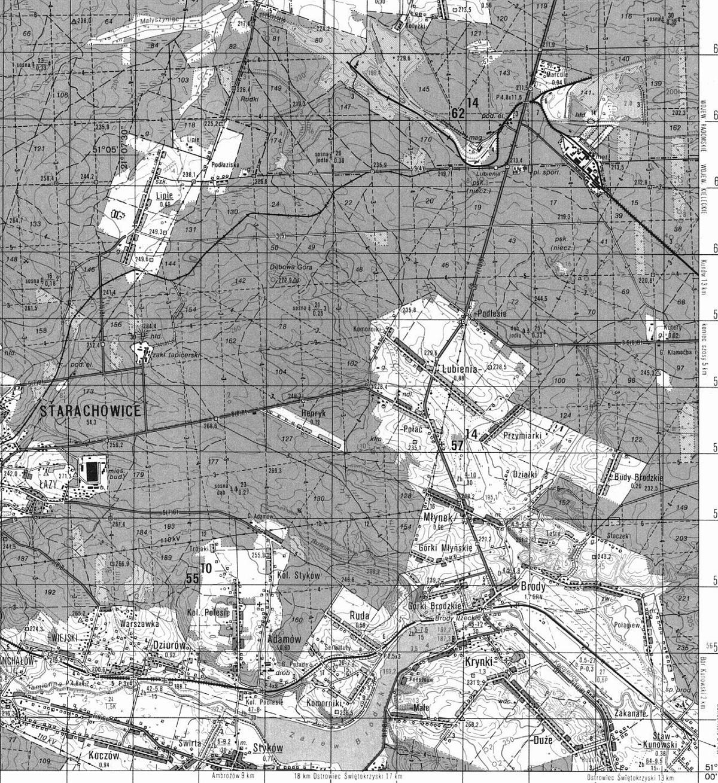 1987-stara-mapa-sztabowa-brody-starachowice-swietokrzyskie-.JPG